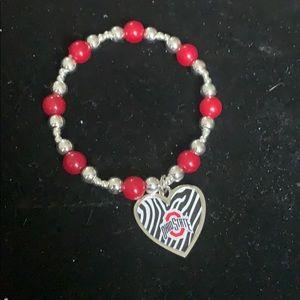 Ohio State zebra bracelet